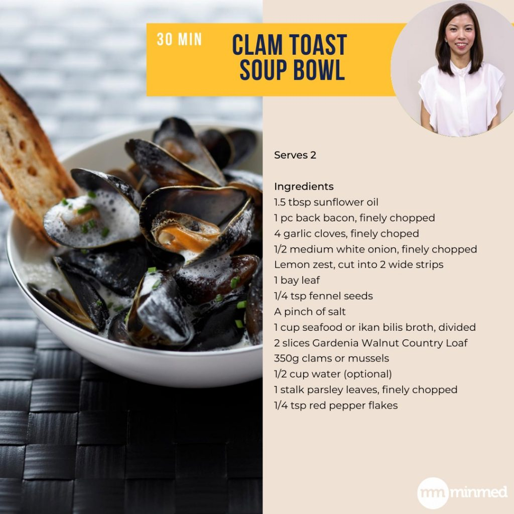 Clam Toast Soup Bowl