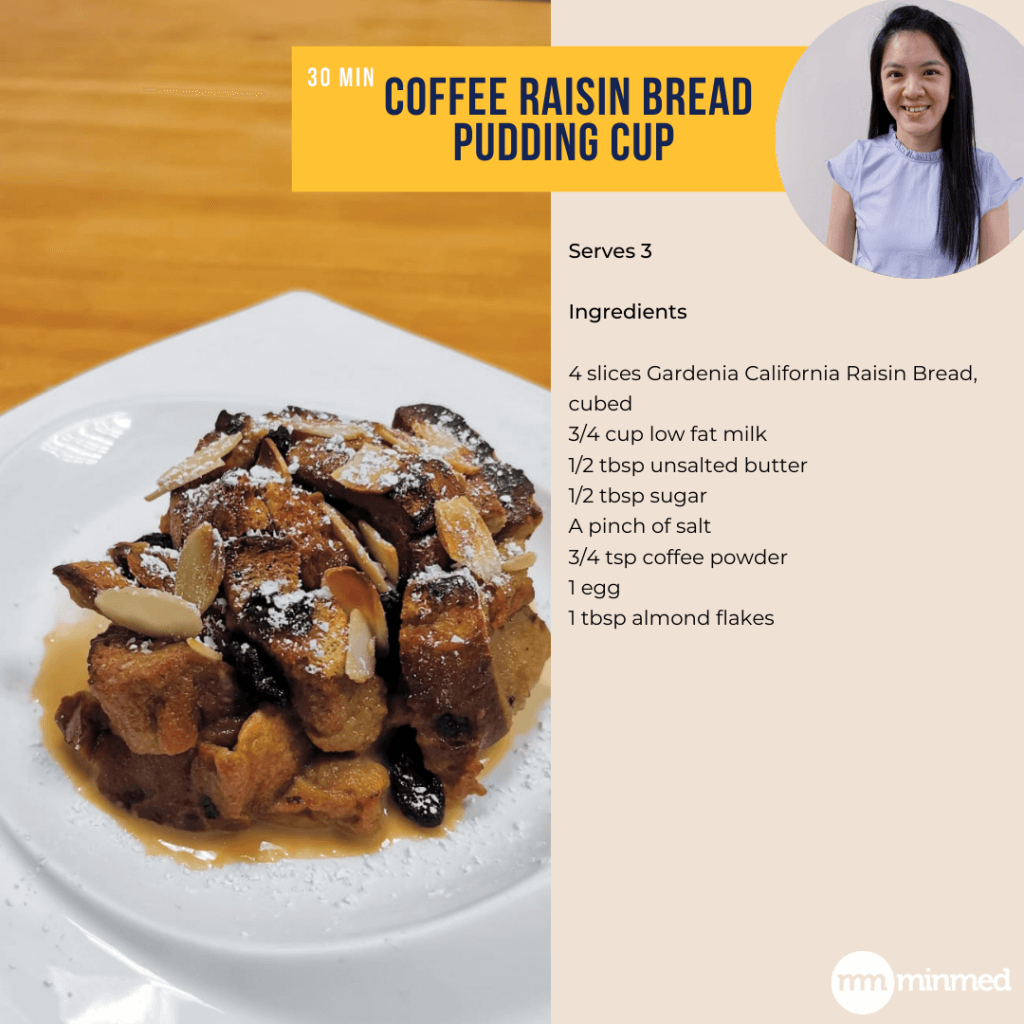 Coffee Raisin Bread Pudding Cup